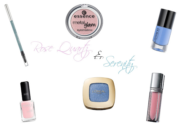 Make Up in den Trendfarben 2016 Rose Quartz und Serenity aus der Drogerie