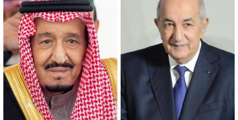 صور الملك سلمان بن عبد العزيز و الرئيس تبون