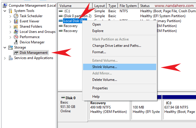 cara membagi partisi hardisk windows 8