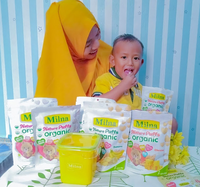 Camilan Sehat Milna Nature Puffs Organic