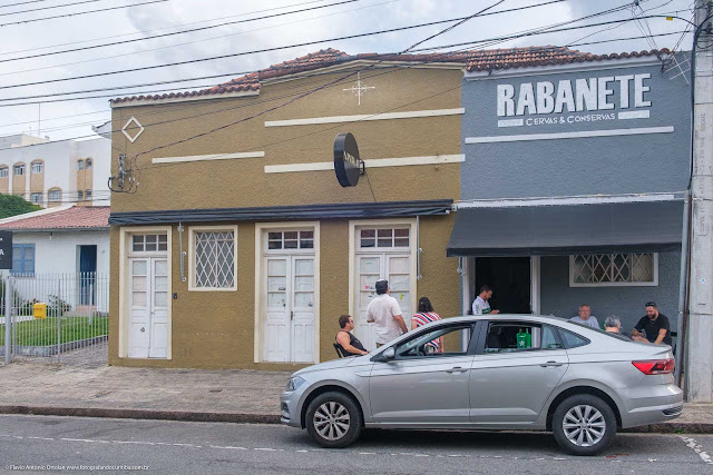 Casa com ornamento de ferro na Rua Mauá