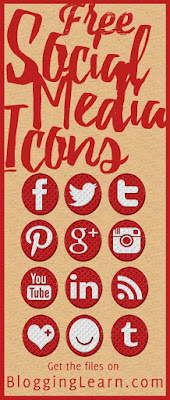 Free Social Media Icons and Social Media Font for Your Blog ♥ Blogging As I Learn It ♥ Free Fonts Download ♥ Free Social Media Icons