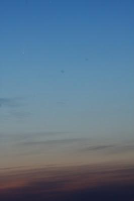 comet C/2020 F3 in the dawn sky