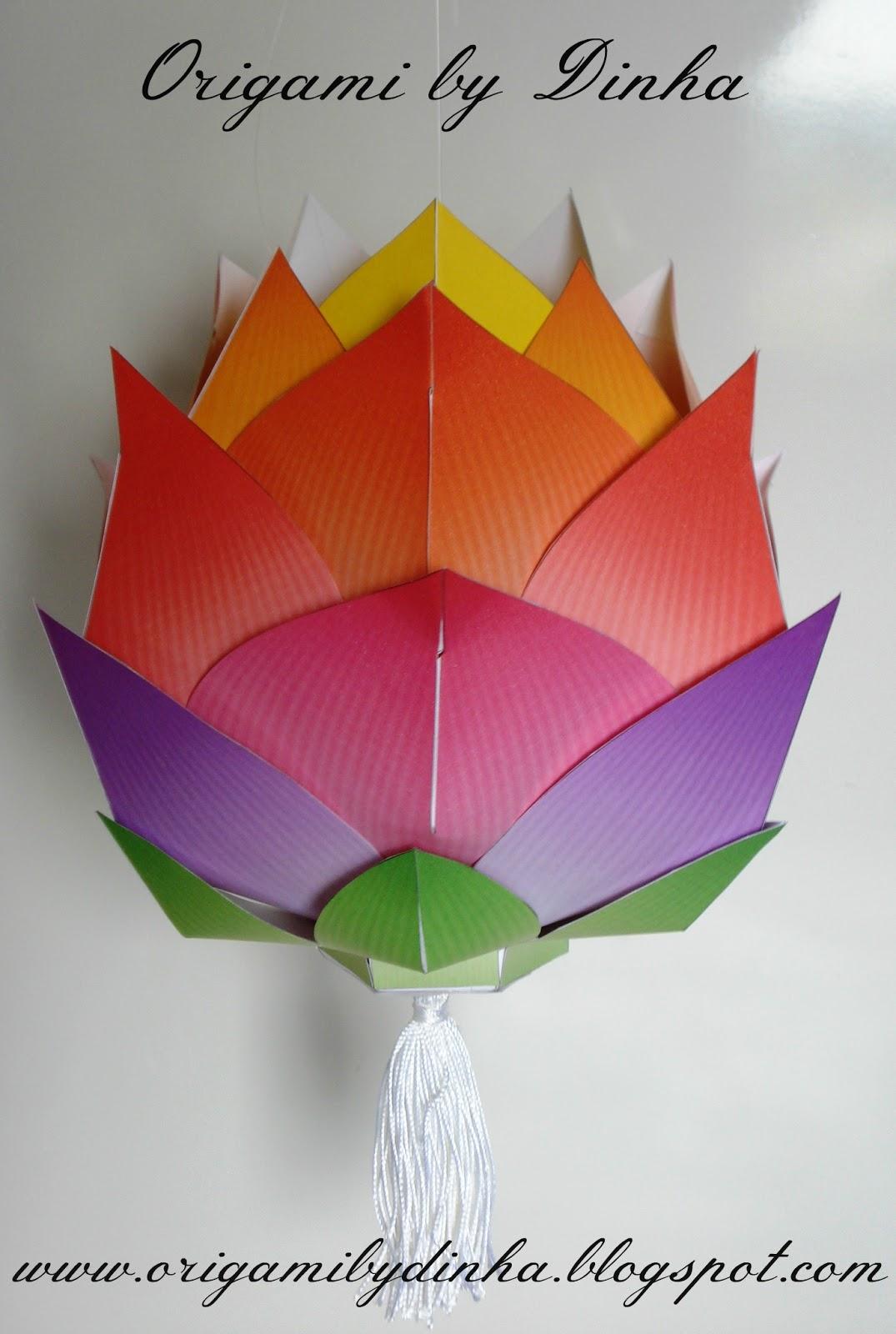 Lanterna Lotus   Origami by Dinha