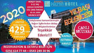 Palmin Hotel Kuşadası Yılbaşı Programı 2020 Menüsü