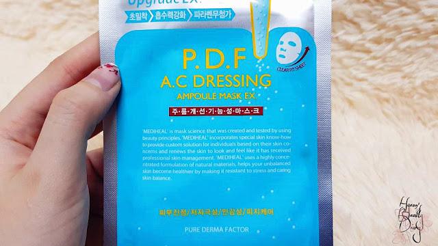 Review; Mediheal's P.D.F A.C Dressing Ampoule Mask Ex.
