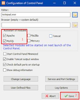 Pengaturan Xampp Agar Apache dan MySql Jalan