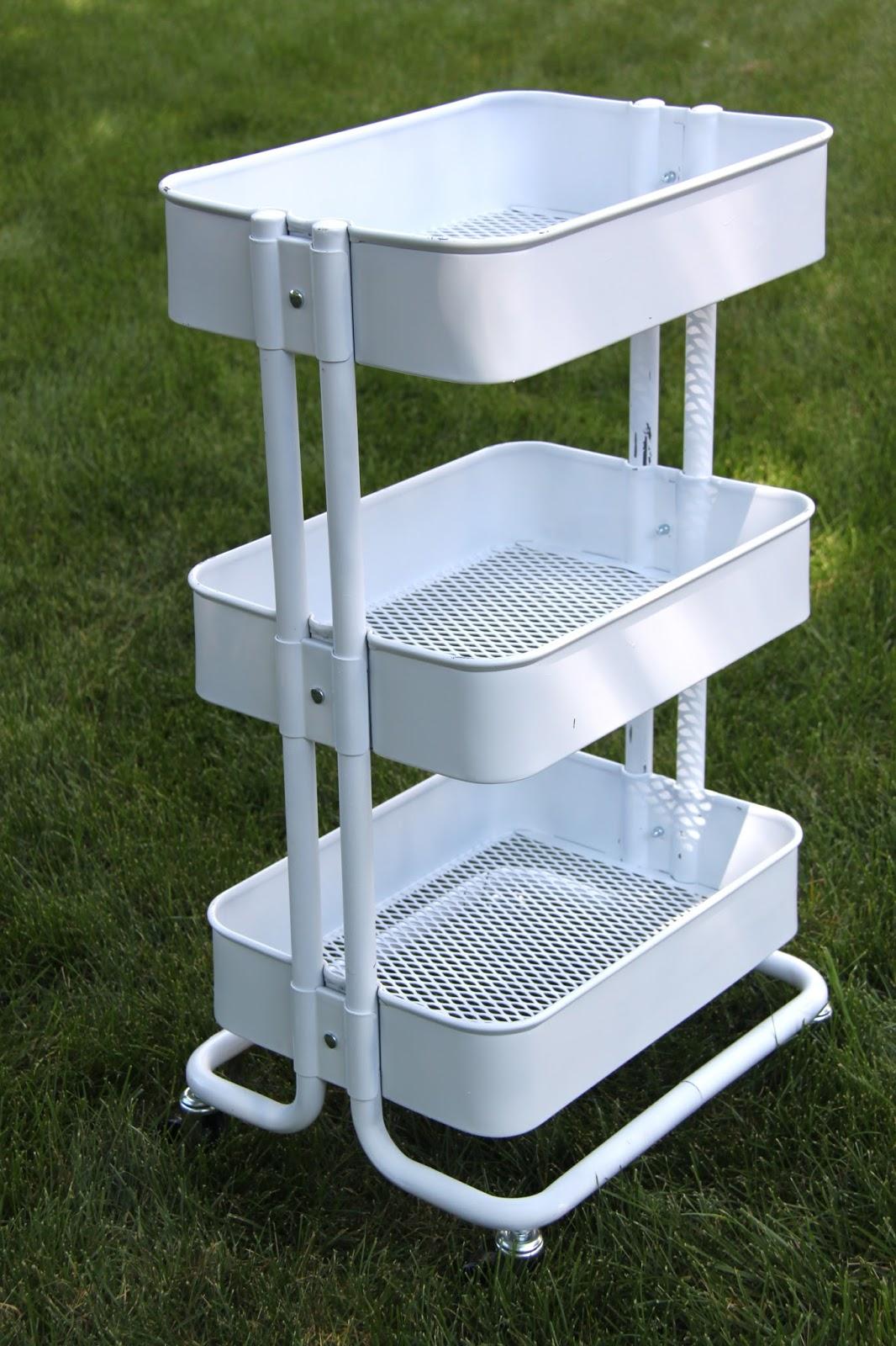 Tutorial Ikea Raskog Kitchen Cart Makeover