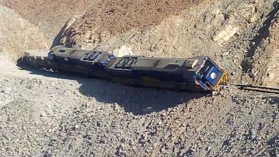 Tren que traía minerales de 'Las Bambas' se descarriló en Uchumayo - Arequipa