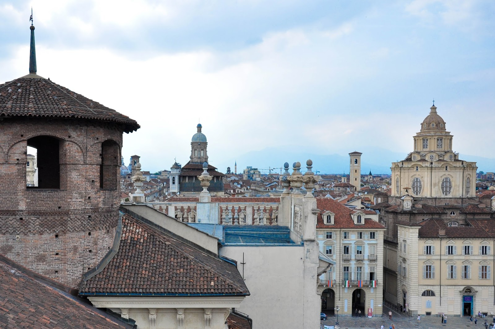 Turin's skyline seen from the panoramic tower of Palazzo Madama, Turin, Italy