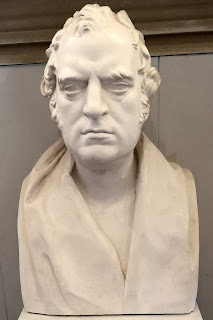 Bust of William Wilkins in the saloon  of the Theatre Royal, Bury St Edmunds