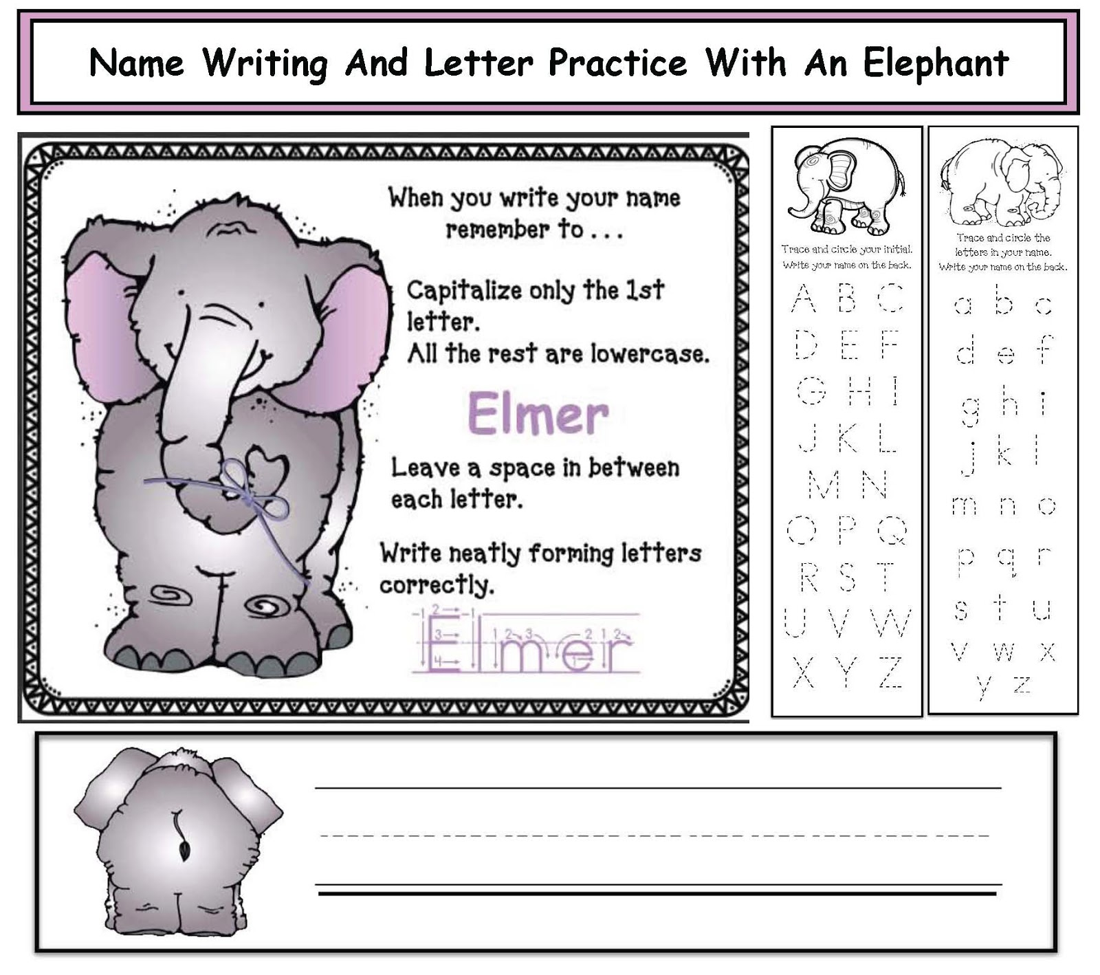 Name Writing Amp Letter Practice
