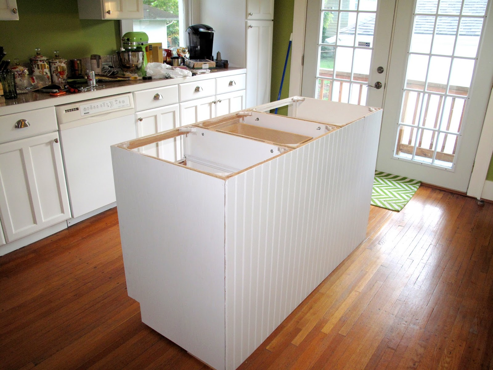 For the Love of Character: Kitchen Island Updated: Cabinets are in!