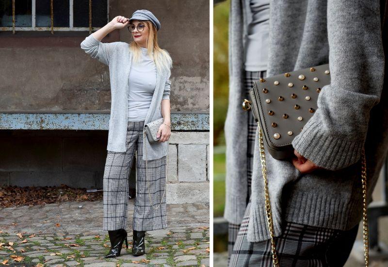 Kaschmir-Strickjacke-Outfit