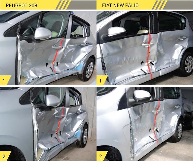Fiat Palio x Peugeot 208 - segurança