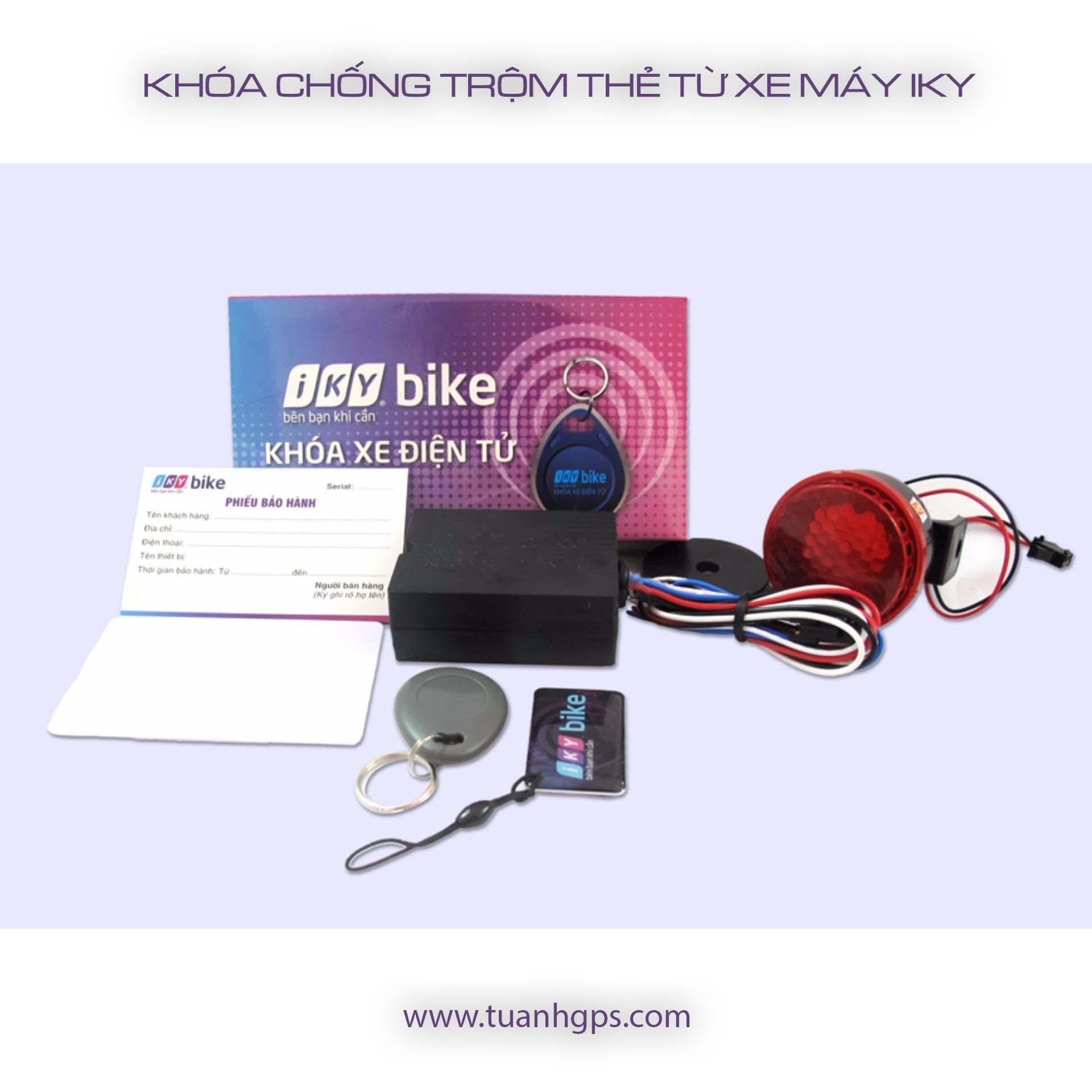 Khóa chống trộm xe máy thẻ từ Iky TuAnh001