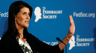 "The US permanent representative, Nikki Haley, described it as an ""insult"""
