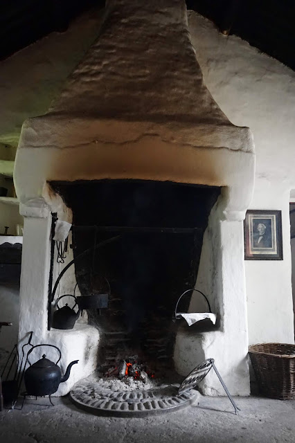 1800's Mellon homestead fireplace - Ulster American Folk Park - Carrie Gault 2019