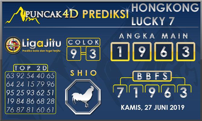 PREDIKSI TOGEL HONGKONG LUCKY7 PUNCAK4D 27 JUNI 2019