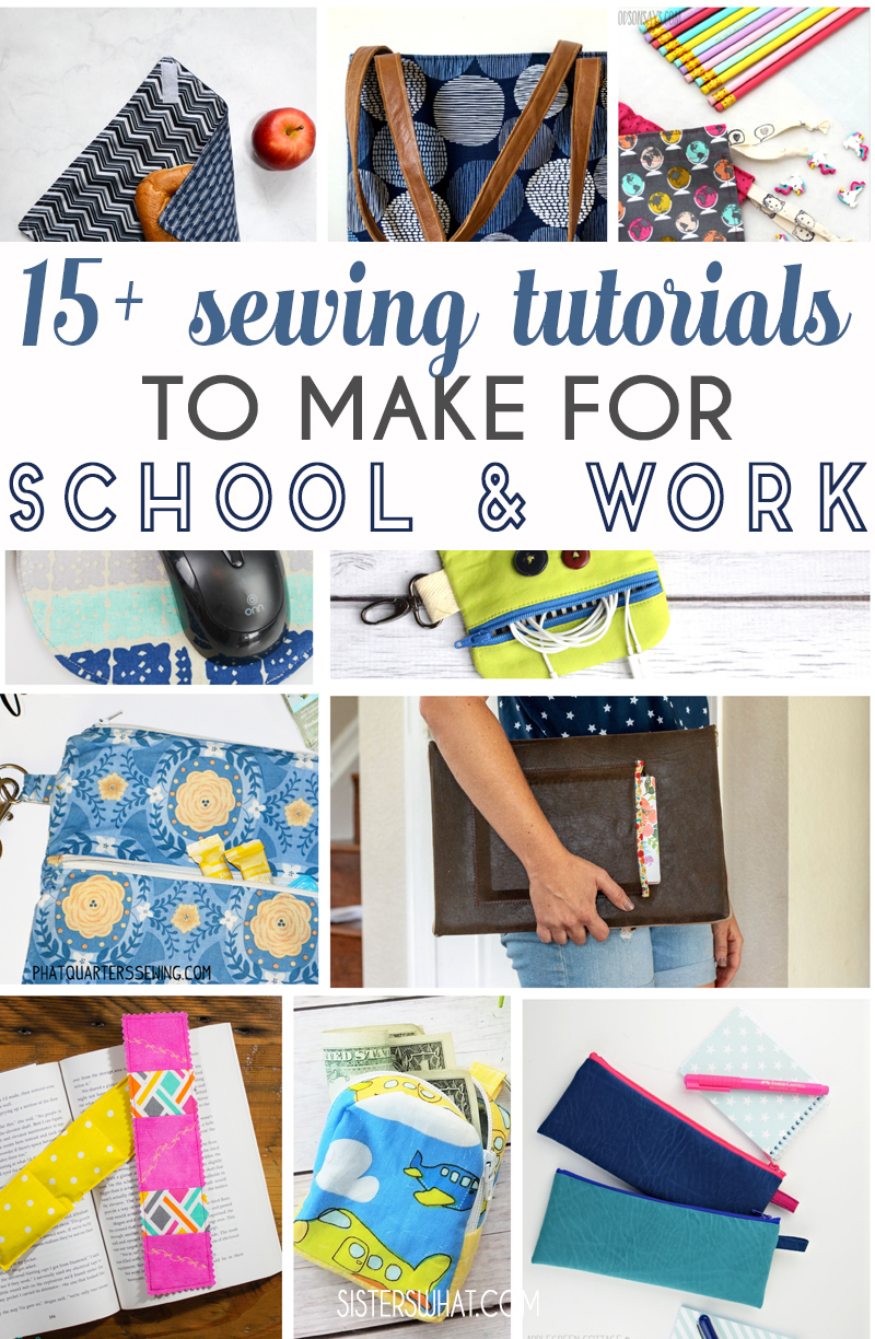 sewing tutorials for school or work