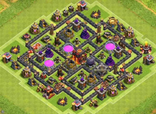 Base Town Hall 8 Clash of Clans Hybrid