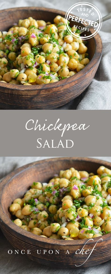 This super-simple chickpea salad makes a delicious lunch or side dish to grilled shrimp or chicken.