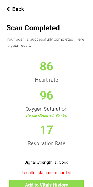 how to check oxygen level using mobile