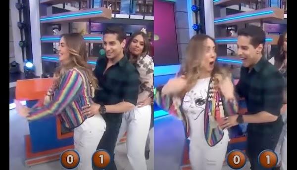 Se hace viral el ppico rayon de cajuela que sufre Andrea Legarreta en pleno programa en vivo de Hoy
