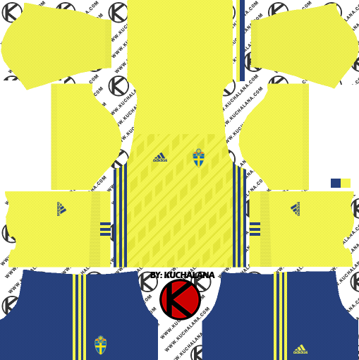 0e51694b5f2 Sweden 2018 World Cup Kit - Dream League Soccer Kits - Kuchalana