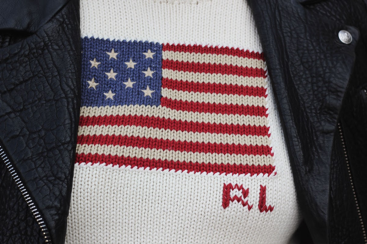 Ralph Lauren american flag jumper from Tessuti | www.itscohen.co.uk