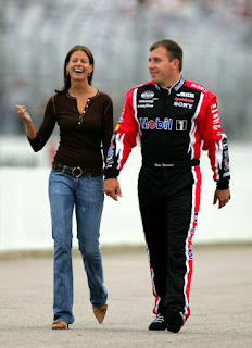 Ryan Newman With His Wife Krissie On The Track In