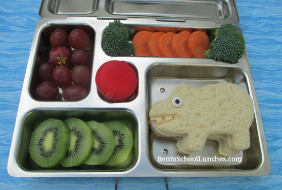 Hippo bento school lunches in Planetbox