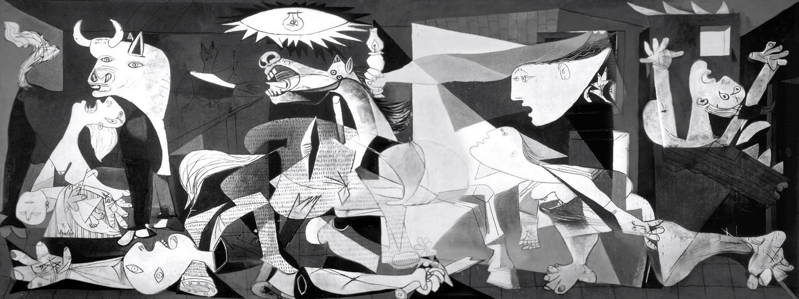 Anti war painting by cubist painter Pablo Picasso, Guernica is crated in 1937.