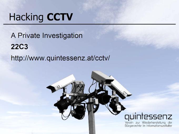 CCTV Hacking, Quintessenz