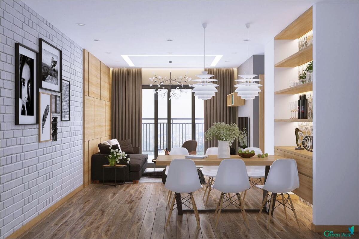 Phòng khách căn hộ Phương Đông Green Park