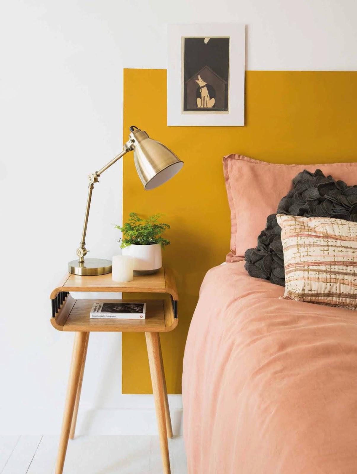 Idee casa - Parete testata letto dipinta ...