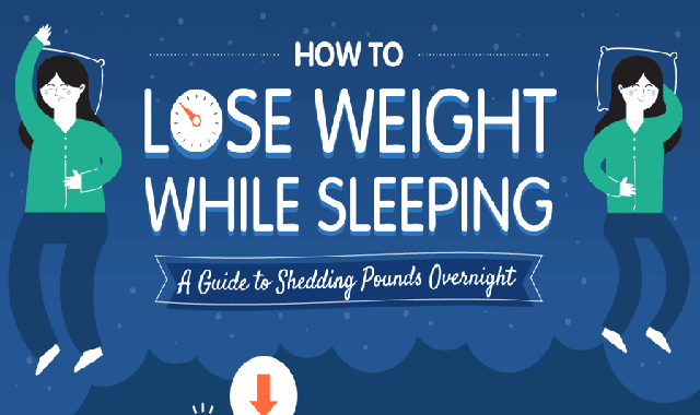 How To Lose Weight While Sleeping #infographic