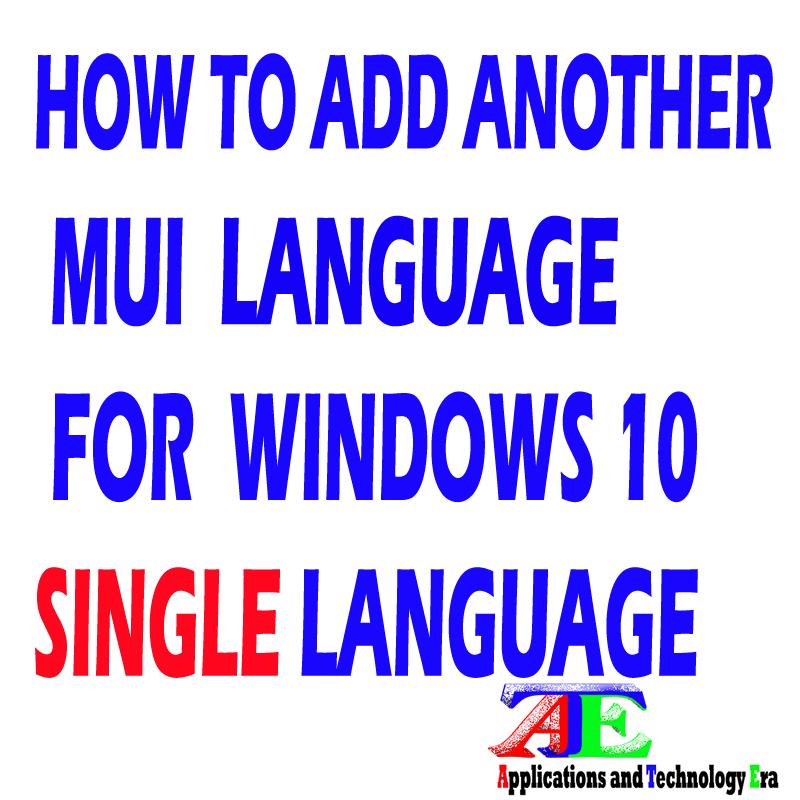 change language pack windows 10 single language