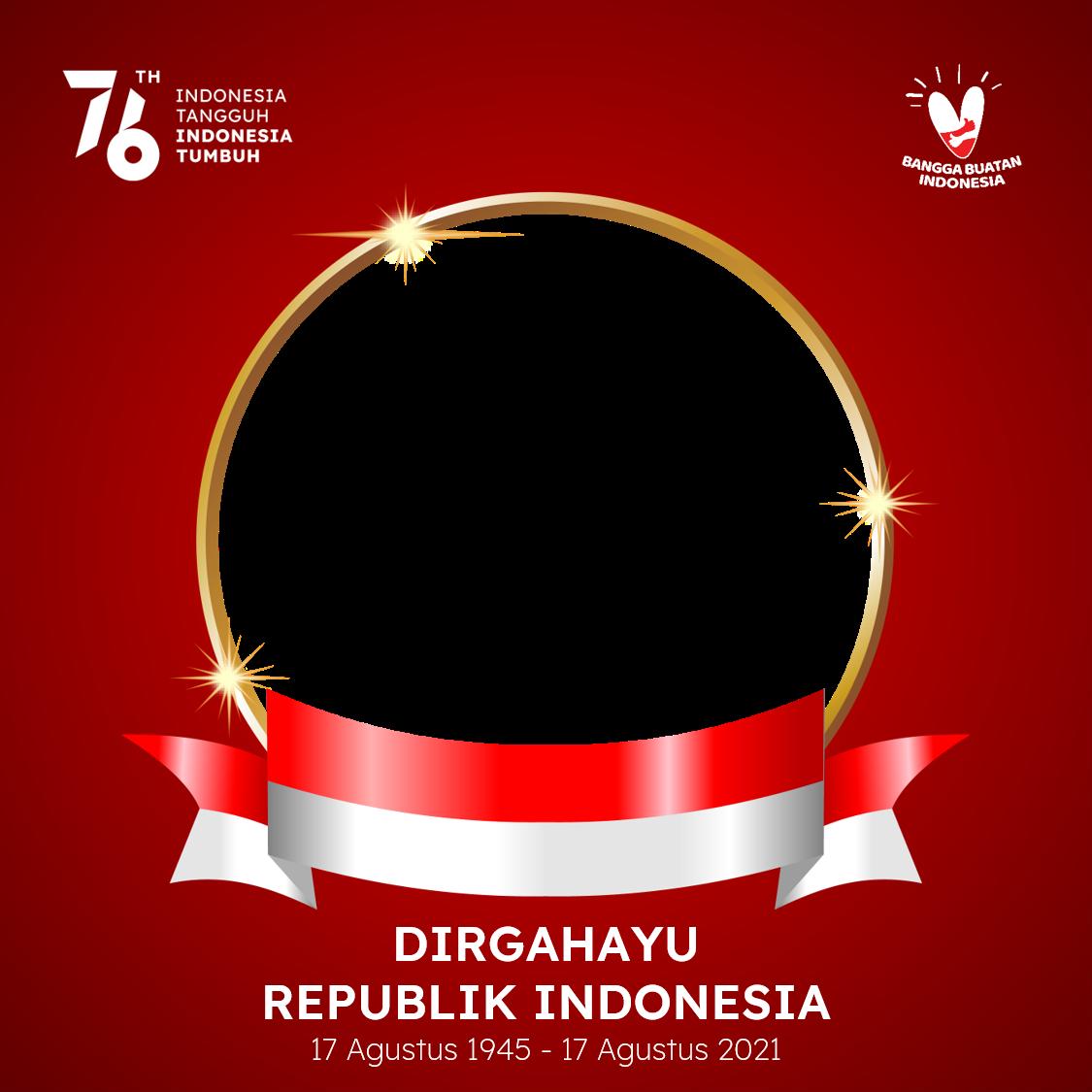 Link Download Bingkai Foto Twibbon Dirgahayu Republik Indonesia 2021 - HUT RI ke-76