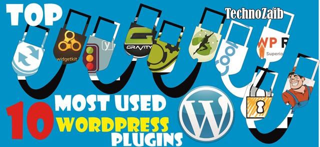 Top 10 most used WordPress plugins
