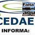 CEDAE fará manutenção em adutora nesta quinta e deixará municípios de Japeri, Nova Iguaçu, Queimados, Seropédica e bairros do Rio sem água