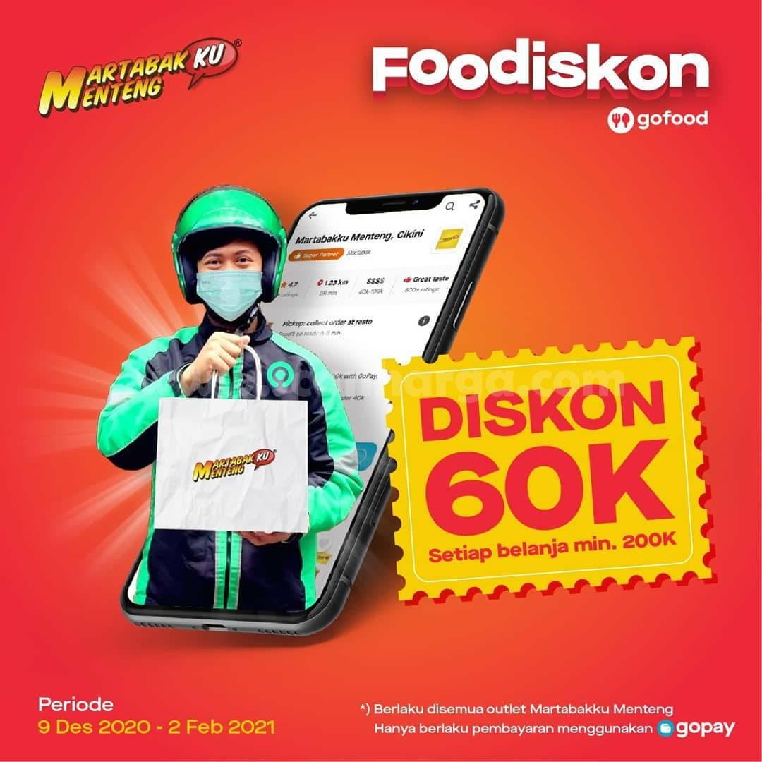 Promo Martabakku Menteng DISKON hingga Rp. 60.000 via GOFOOD