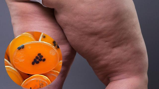 Savon anti-cellulite à la papaye pour modeler les jambes (élimine les graisses et raffermit la peau)