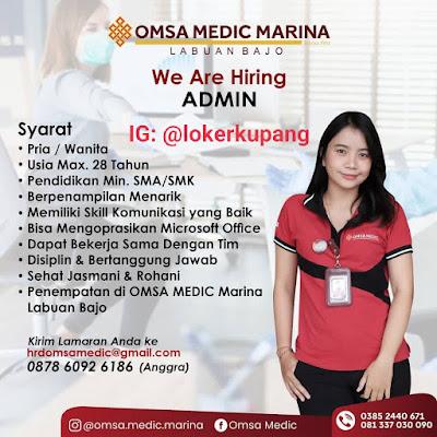 Lowongan Kerja Omsa Medic Marina Labuan Bajo Sebagai Admin