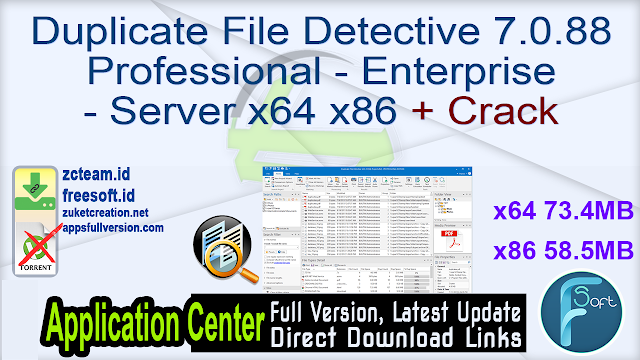 Duplicate File Detective 7.0.88 Professional – Enterprise – Server x64 x86 + Crack_ ZcTeam.id