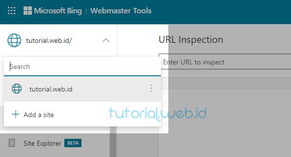 Cara Submit Blog Ke Bing 4 Pilih Add a site
