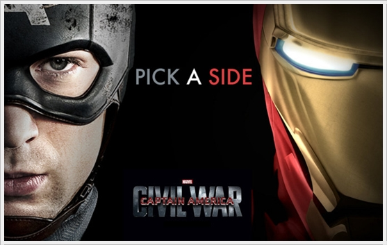 Pick A Side - #TeamCap or #TeamIronMan