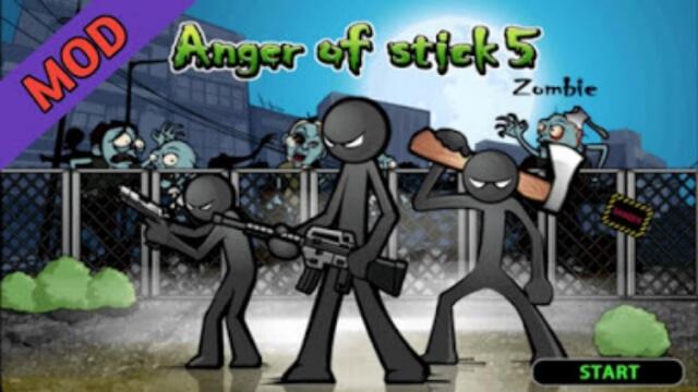 تنزيل لعبة Anger of Stick 5: Zombie مهكرة للاندرويد