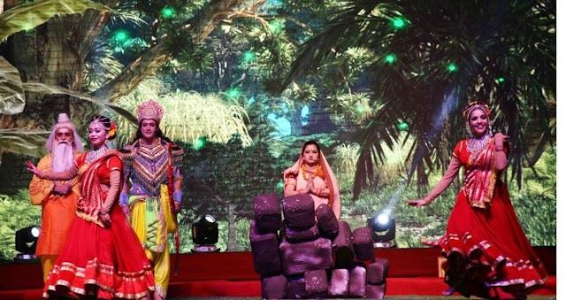 लवकुश रामलीला की लीला में तीसरे दिन अहिल्या उद्धार, धनुष विखंडन से लेकर सीता स्वयंवर तक का मनोहारी मंचन
