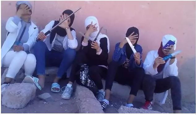 إحالة التلميذات صاحبات فيديو التشهير بالاسلحة البيضاء على إصلاحية أكادير